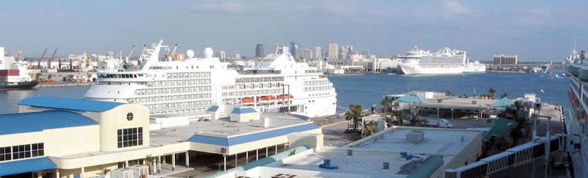 Cruise lines at Fort Lauderdale Cruise Port